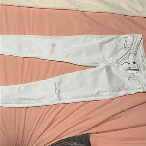 Old Navy distressed white jeans